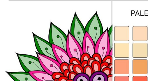 Free Coloring Book For Adults logo.