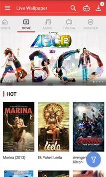 Vidmate-HD video downloader and live TV.