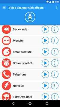 Voice changer with effects3