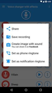 Voice changer with effects5
