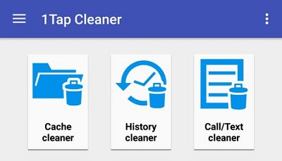1Tap Cleaner Cache History