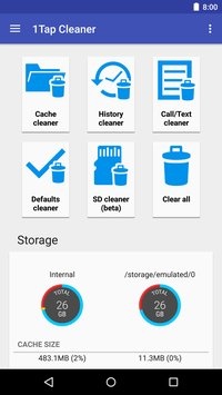 1Tap Cleaner Cache History1