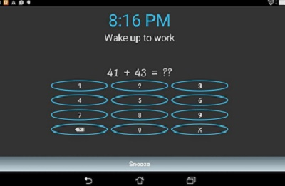 Alarm with math problems