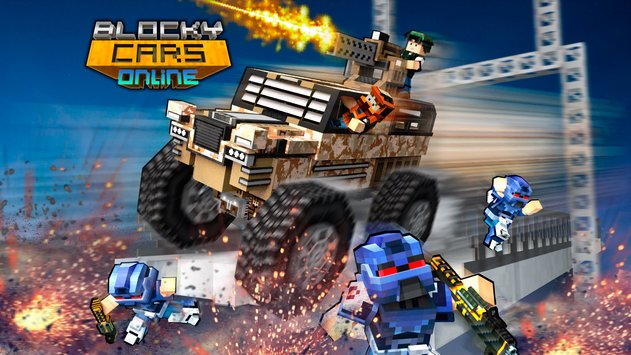 Blocky Cars Online Shooter FPS 1
