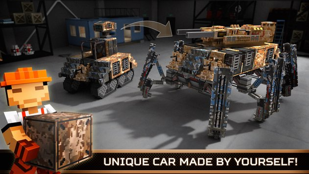 Blocky Cars Online Shooter FPS 2