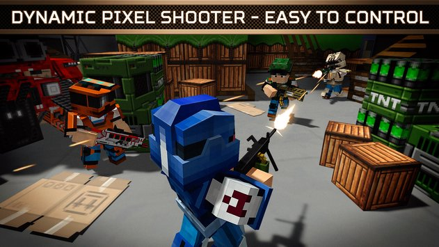 Blocky Cars Online Shooter FPS 3