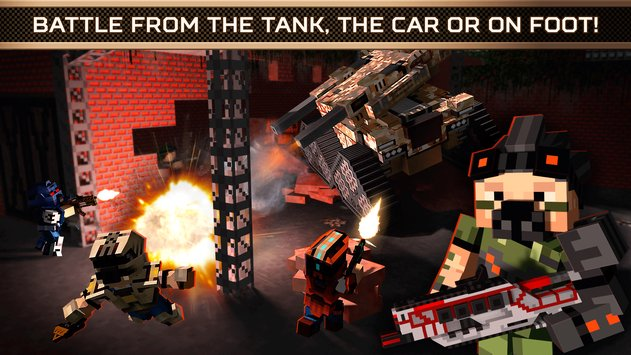 Blocky Cars Online Shooter FPS 4