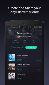 Pindrop Music smart playlists4