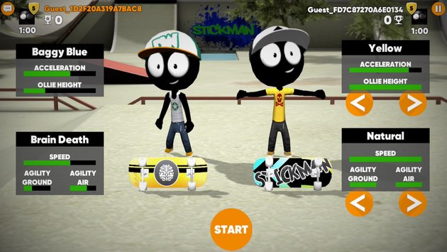 Stickman Skate Battle 7