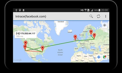 Intrace Visual Traceroute