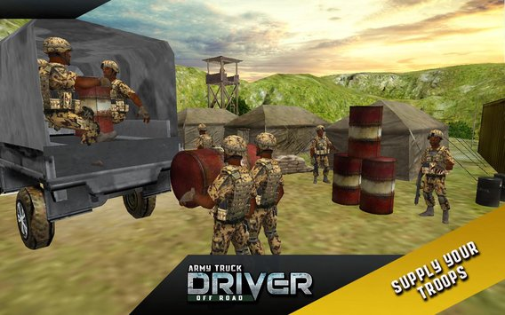 Army Truck Offroad Transport 3