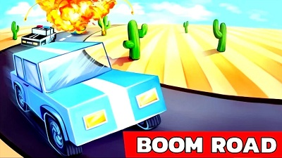 Boom Road 3d drive and shoot logo