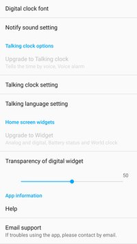 ClockView Always On Clock Widget Voice Clock8