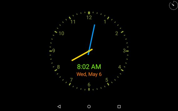 ClockView Always On Clock Widget Voice Clock9