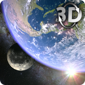 Earth Moon in HD Gyro 3D Parallax Live Wallpaper