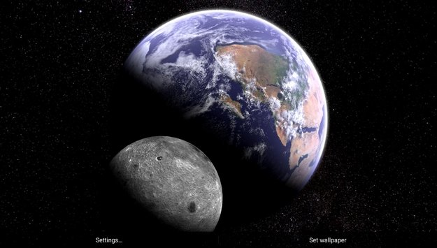 Earth Moon in HD Gyro 3D Parallax Live Wallpaper5