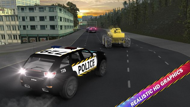 Police Car Chase Hot Pursuit 2