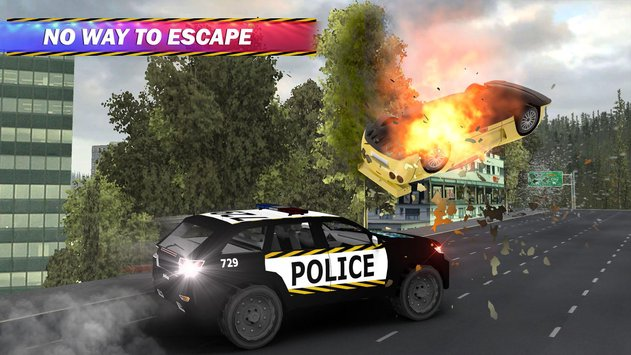 Police Car Chase Hot Pursuit 3