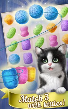 Knittens Sweet Match 3 Puzzles & Adorable Kittens