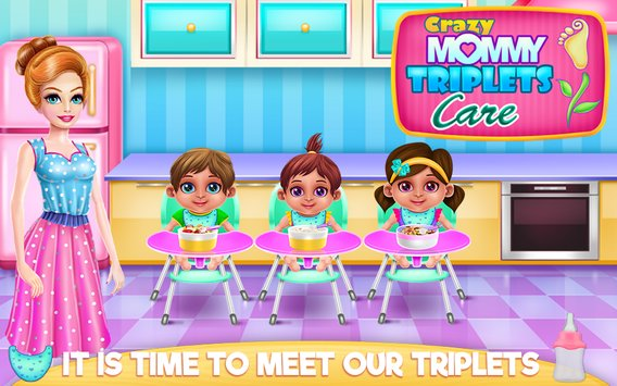 Crazy Mommy Triplets Care1