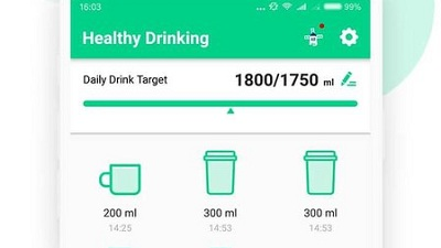 Healthy Drinking Water Alarm Hydro Tracker