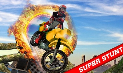 Superhero Tricky Bike Crazy Stunt Master