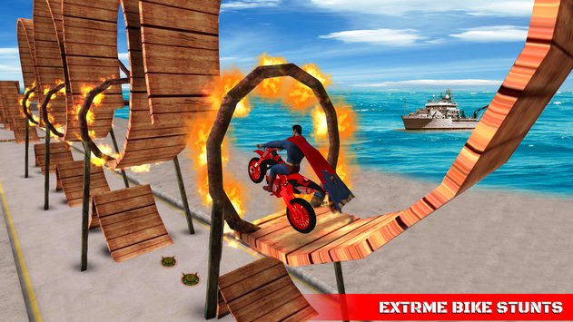 Superhero Tricky Bike Crazy Stunt Master1