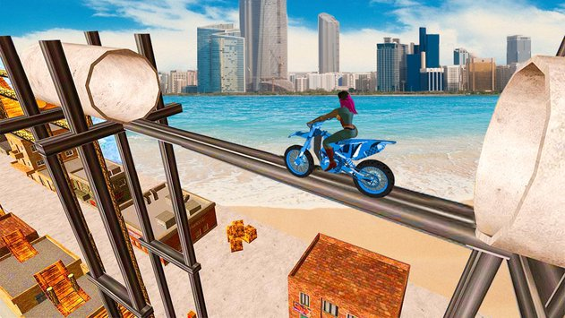 Superhero Tricky Bike Crazy Stunt Master5