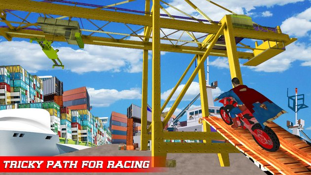Superhero Tricky Bike Crazy Stunt Master6