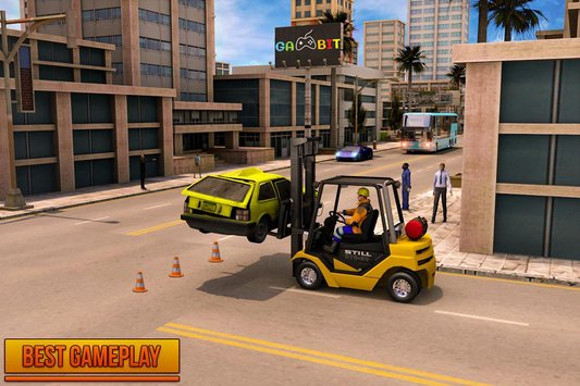 Car Police Lifter Fork Simulator Game4