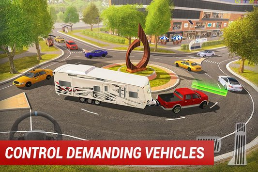 Roundabout 2 A Real City Driving Parking Sim2