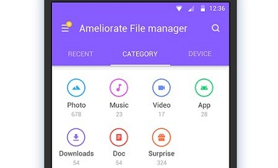 Ameliorate File Manager Explorer Transfer