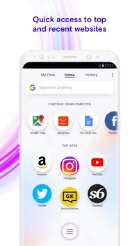 Opera Touch the fast new browser with Flow2