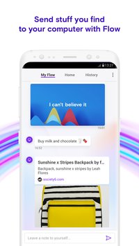 Opera Touch the fast new browser with Flow4