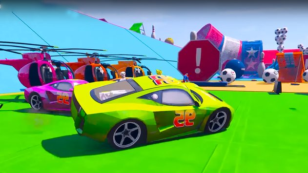 Superheroes Fast Highway Racing Challenges4