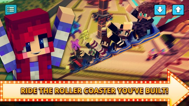 Theme Park Craft 2 Build Ride Roller Coaster3