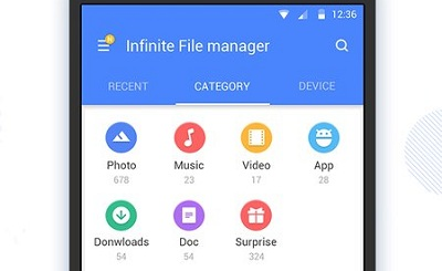 Infinite File Manager Explorer Transfer Clean