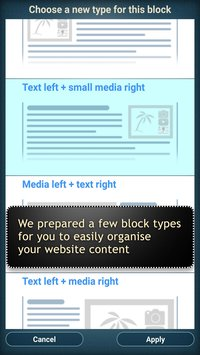 Website Builder for Android3