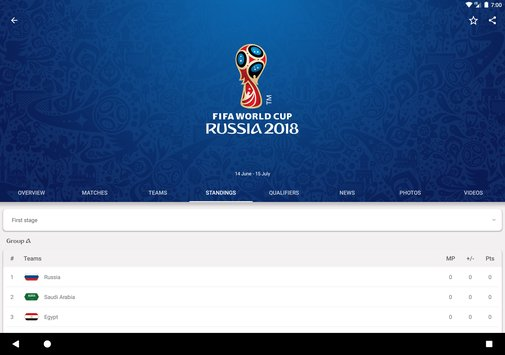 2018 FIFA World Cup Russia Official App2