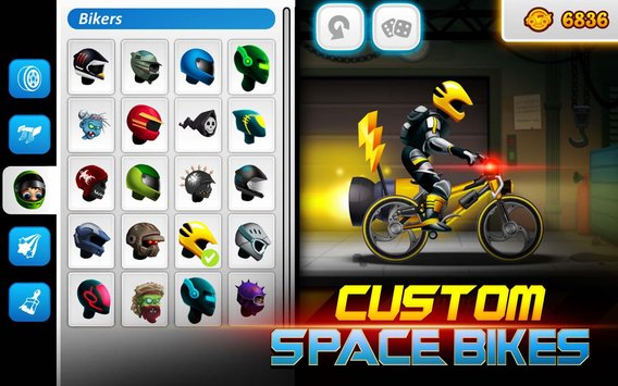 High Speed Extreme Bike Race Game Space Heroes2