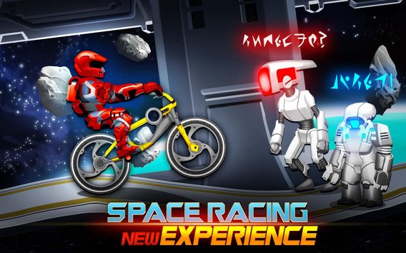 High Speed Extreme Bike Race Game Space Heroes3