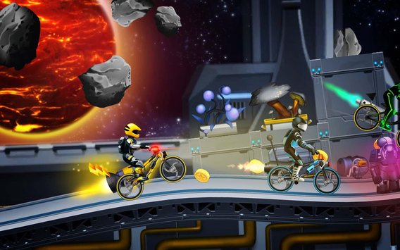 High Speed Extreme Bike Race Game Space Heroes4