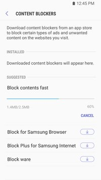 Samsung Internet Browser Beta4