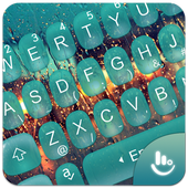 Water Droplets Keyboard Theme