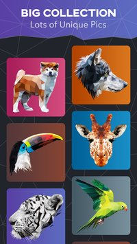 PolyColor Color by Number Poly Art Coloring Game3