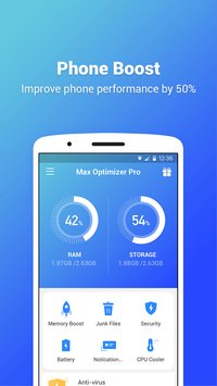 Max Optimizer Pro easy to use boost phone fast1