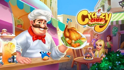 Crazy Chef Fast Restaurant Cooking Game