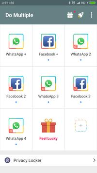 Do Multiple Unlimited app cloner dual space1