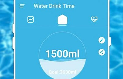 water drink time water tracker hydration