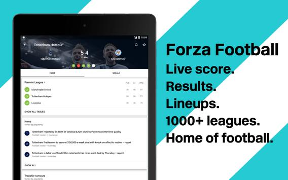 Forza Live soccer scores video highlights2